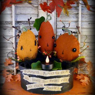 Pumpkin pumpkin in a row lantern pattern- #338.