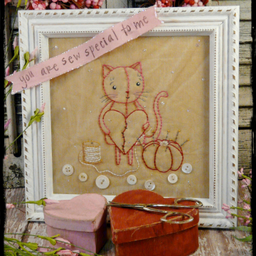 You are sew special to me kitty cat embroidery pattern #322