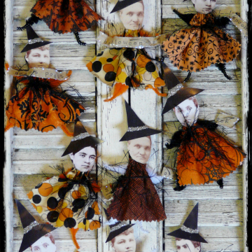 Wicked Witch ornaments ornie pattern- #339