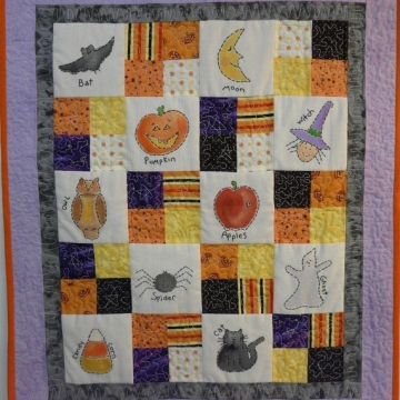 Halloween Sampler STITCHERY QUILT PATTERN