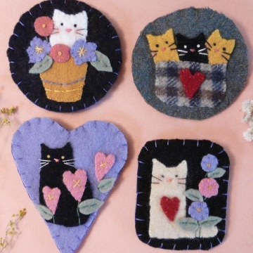 Cute Cats Wool Pins Pattern