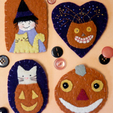 Spooky Halloween WOOL PINS Pattern