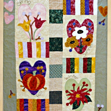 Four Seasons Heart Quilt pattern