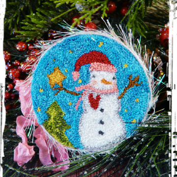 Christmas snowman Punch needle Pattern