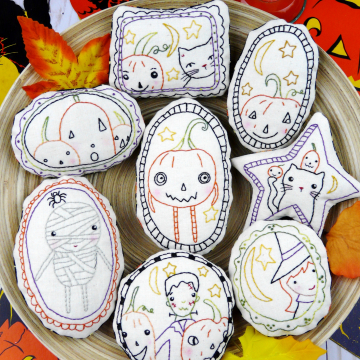 Halloween embroidery ornaments pattern