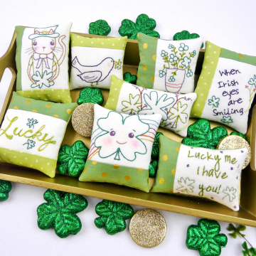 st. patrick's day embroidery