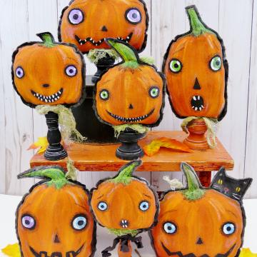 easy painted pumpkins tutorial pattern