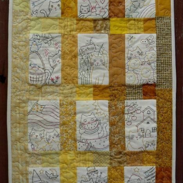 12 Month Kitty cat Stitchery quilt pattern kitty