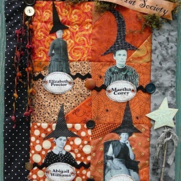 The Black Hat Society pattern witch quilt