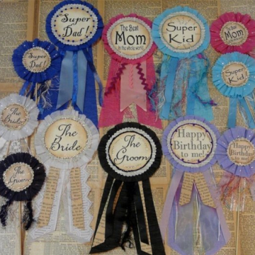 Special occasions pin badges & cake poke pattern
