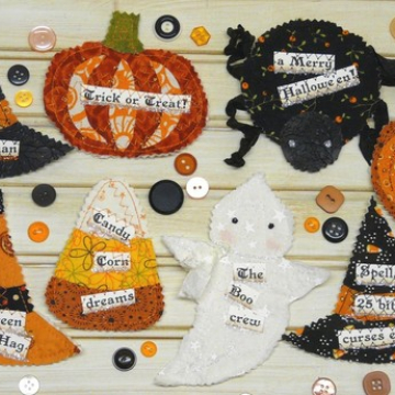 Halloween Party Pins & Ornament pattern
