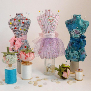 Mini Mannequin & Tomato pincushion Pattern
