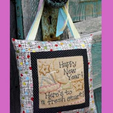 Happy New Year Here's to a fresh start stitchery pattern