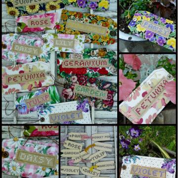 Garden tags Faux cross-stitch Pattern