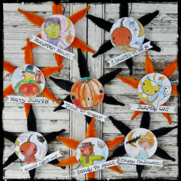 Halloween ornaments and banner pattern chenille stem