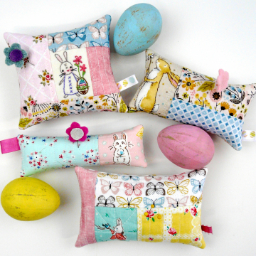 Easter bunny spring pincushions pattern
