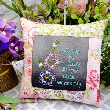 black chalk board fabric embroidery design