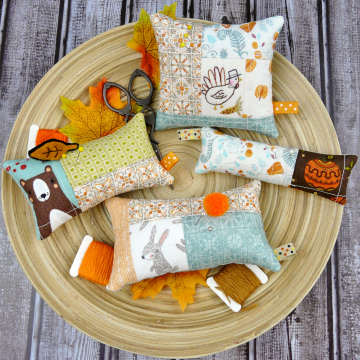 thanksgiving pincushions pattern 4 designs